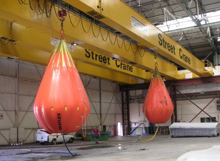 Water filled load test weights